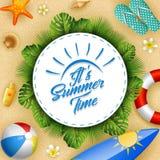 Zijn de zomertijd stock illustratie
