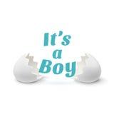 Zijn een jongen Malplaatje voor babydouche vector illustratie
