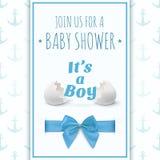Zijn een jongen Malplaatje voor de viering van de babydouche Stock Foto's