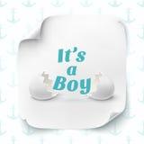 Zijn een jongen Malplaatje voor de viering van de babydouche Royalty-vrije Stock Foto