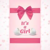 Zijn een meisje Malplaatje voor de viering van de babydouche vector illustratie