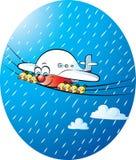Zijn opnieuw het regenen vector illustratie