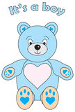 Zijn Teddy een Jongen royalty-vrije stock afbeelding