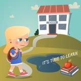 Zijn Tijd te leren Stock Afbeelding