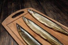 Zijn verse gerookte vissen Royalty-vrije Stock Foto's