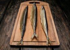 Zijn verse gerookte vissen Stock Fotografie