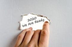 2020 zijn wij klaar tekstconcept Stock Afbeelding
