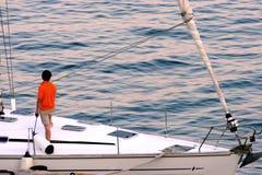 Zijn Zeilboot royalty-vrije stock foto