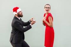 Zijn zinnen van hand en harten in Kerstmis! Stock Afbeelding