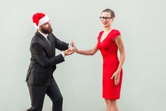 Zijn zinnen van hand en harten in Kerstmis zijn slecht idee! Nr, Royalty-vrije Stock Foto