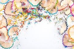 Zijnd creatief met potloodspaanders Royalty-vrije Stock Afbeeldingen