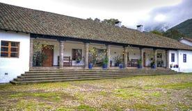 Zijsectie van een oude hacienda Royalty-vrije Stock Foto's