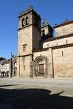 Zijvoorgevel van de kathedraal van Braga Stock Foto's