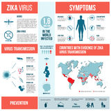 Zika病毒infographics 库存图片