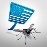 Zika in de Verenigde Staten Stock Afbeelding