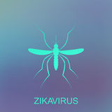 Zika mosquito vector. Virus alert. Aedes Aegypti  on blue background Stock Photography