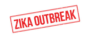 Zika outbreak rubber stamp Royalty Free Stock Image