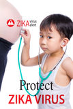 Zika pregnancy fear medical concept and virus danger concept. Is Stock Photo