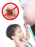 Zika pregnancy fear medical concept and virus danger concept. Is royalty free stock images