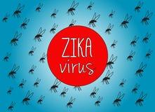 Zika virus Arkivbilder
