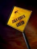 ZIKA virus ahead sign Royalty Free Stock Photo
