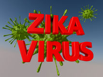 Zika virus alert. Concept illustration Royalty Free Stock Photography
