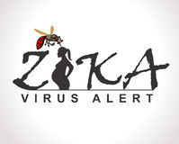 Zika virus alert graphic, Ideal for informational and institutional sanitation and related care Royalty Free Stock Photo