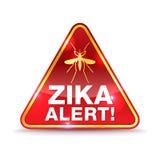 Zika Virus Alert Icon Illustration Royalty Free Stock Photography
