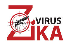 Zika virus alert. Image of Zika virus alert with mosquito prohibited sign Stock Images