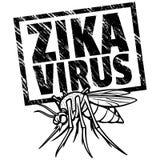 Zika Virus Alert Sign Royalty Free Stock Photo