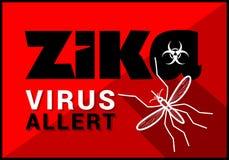 Zika virus allert vector outline Royalty Free Stock Images