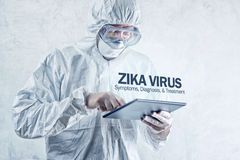 Zika virus concept, medical worker in protective clothes Royalty Free Stock Images