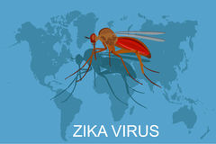 Zika virus concept, vector illustration Royalty Free Stock Images
