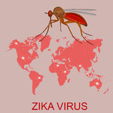 Zika virus concept, vector illustration Stock Photography