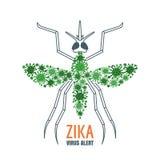 Zika virus concept. Vector illustration of mosquito. Stock Photos