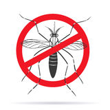 Zika virus graphic design elements. Zika alert banner, poster, flyer with aegypti aedes mosquito. Aegypti. Forbidden, no mosquito sign. High quality graphic Stock Photo