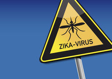 Zika-Virus. Illustration Symbol - Attention Zika Virus Stock Photography