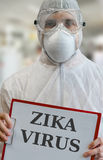 ZIKA virus infection epidemic. Written on clipboard Royalty Free Stock Images
