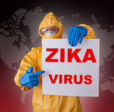 Zika virus, medical worker in protective clothes. Royalty Free Stock Image