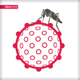 Zika Virus with mosquitoe. Stock Images