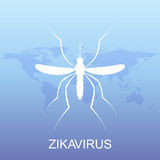 Zika virus pattern wallpapers with World Map. Zika virus mosquito bite illustration  Stock Images