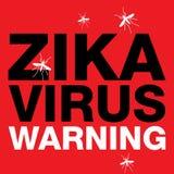 Zika Virus Red Warning Stock Images
