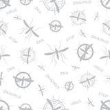 Zika virus seamless pattern. Royalty Free Stock Image