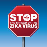 Zika Virus Stop Sign Warning Illustration Stock Photography