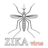 Zika virus symbol. Isolated vector illustration. Stock Photography