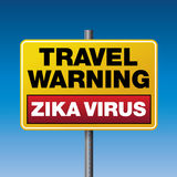 Zika Virus Travel Warning Illustration Royalty Free Stock Photo