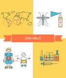 Zika virus vector Stock Photo