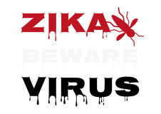 Zika virus warning Royalty Free Stock Photo