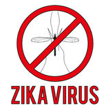 Zika virus warning round sign Stock Photos