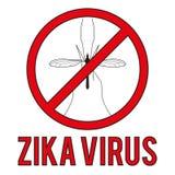 Zika virus warning round sign Stock Photos
